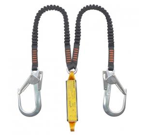Строп ASSECURO двойной из эластичной ленты с амортизатором и карабинами 2xAJ591 / 1,8м / CE2052L F2