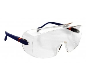 Очки защитные для посетителей STARLINE с открытыми прозрачными линзами G-039A-C