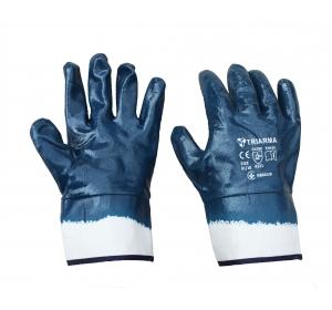 Перчатки TRIARMA нитрильные с твердой манжетой NBR 4530