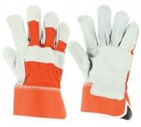 Перчатки STARLINE комбинированные спилок/хлопок E-001-OR