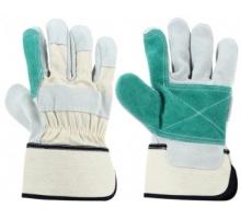 Перчатки STARLINE комбинированные спилок/хлопок с двойным наладонником E-051-BY