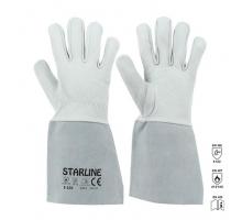 Перчатки STARLINE кожаные для аргонной сварки E-102