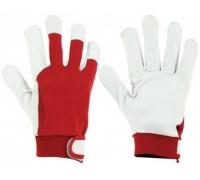 Перчатки защитные STARLINE комб. кожаные с манжетой на липучке E-1209