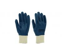 Перчатки STARLINE нитрильного облегченные с полным покрытием и вязаным манжетом E-206-B
