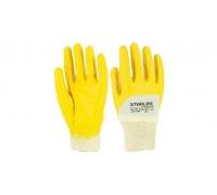 Перчатки STARLINE нитрильного облегченные с неполным покрытием и вязаным манжетом E-211