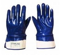 Перчатки STARLINE нитрильные с твердой манжетой E-370