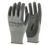 Перчатки STARLINE нейлоновые с неполным ПУ покрытием E-49