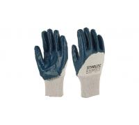 Перчатки STARLINE нитрильные с неполным покрытием и вязаной манжетой E-381