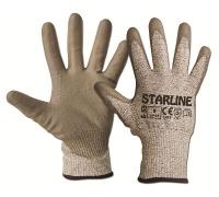 Перчатки против порезов STARLINE с полиуретановым покрытием Е-53