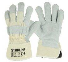 Перчатки STARLINE комбинированные спилок/хлопок E-002-BY