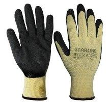 Перчатки STARLINE хлопчатобумажные с неполным латексным покрытием E-52